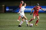 SALEM, VA - DECEMBER 3:Julia Kyne (16) makes a pass during theDivision III Women's Soccer Championship held at Kerr Stadium on December 3, 2016 in Salem, Virginia. Washington St Louis defeated Messiah 5-4 in PKs for the national title. (Photo by Kelsey Grant/NCAA Photos)