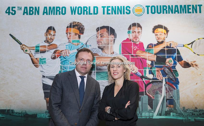Amsterdam, Netherlands, Januari 10, 2017, Pressconference ABNAMROWTT 2018, Jolanda Jansen and Ernst Broekhof<br /> Photo: Tennisimages/Henk Koster
