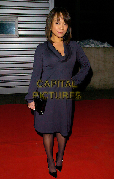 "GUEST.Attending the ""Doctor Who"" Christmas Special Gala Screening held at the Science Museum,.London, England, December 19th 2007..Dr Dr. full length blue dress.CAP/CAN.©Can Nguyen/Capital Pictures"