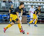 Almere - Zaalhockey  Amsterdam-Den Bosch (m)  Jasper Tukkers (Den Bosch)  . TopsportCentrum Almere.    COPYRIGHT KOEN SUYK