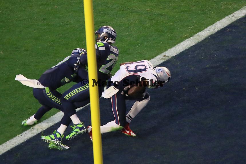 TD Brandon LaFell (Patriots)zum 7:0 - Super Bowl XLIX, Seattle Seahawks vs. New England Patriots, University of Phoenix Stadium, Phoenix