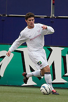 New England Revolution's Jay Heaps. The New England Revolution played the NY/NJ MetroStars to a 1 to 1 tie at Giant's Stadium, East Rutherford, NJ, on April 25, 2004.