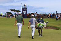 Christiaan Bezuidenhout (RSA) and Rory McIlroy (NIR) on the 2nd during Round 4 of the Aberdeen Standard Investments Scottish Open 2019 at The Renaissance Club, North Berwick, Scotland on Sunday 14th July 2019.<br /> Picture:  Thos Caffrey / Golffile<br /> <br /> All photos usage must carry mandatory copyright credit (© Golffile | Thos Caffrey)