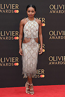 Adrienne Warren<br /> arriving for the Olivier Awards 2019 at the Royal Albert Hall, London<br /> <br /> ©Ash Knotek  D3492  07/04/2019