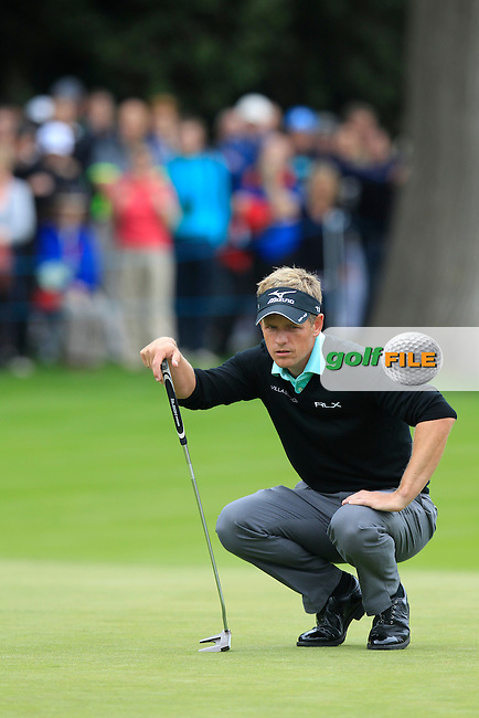 Luke Donald (ENG) during round 2 of the 2015 BMW PGA Championship over the West Course at Wentworth, Virgina Water, London. 22/05/2015<br /> Picture Fran Caffrey, www.golffile.ie: