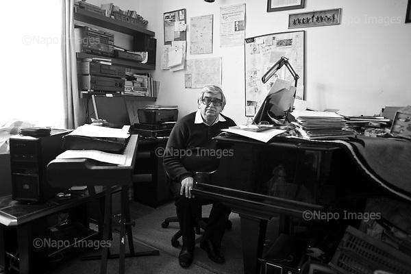 Warsaw 05 May 2017 Poland<br /> Jerzy Derfel Polish composer, pianist<br /> Photo by Filip Cwik / Napo Images <br /> <br /> Warszawa 5 maj 2017 Polska<br /> Jerzy Derfel polski kompozytor, pianista. Przez wiele lat towarzyszacy m.in. Wojciechowi Mlynarskiemu jako akompaniator.<br /> fot. Filip Cwik / Napo Images