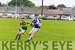 In Action Mitchel's Dan Kerins and KOR's Shane Brosnan in the Senior County Football League Div.1 Kerins O'Rahilly V John Mitchels at Kerins O'Rahillys on Sunday