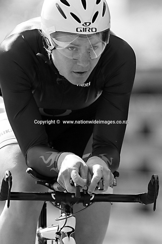 Jaime Nielsen competes in the Elite Women's time trial 25km at the Calder Stewart Elite Road National Championships, Lincoln, New Zealand, Friday, January 10, 2014. Credit:NINZ/Dianne Manson