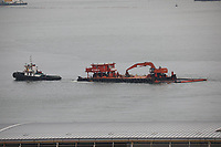 Ships working in the South China Sea, Hong Kong on 10.4.19.