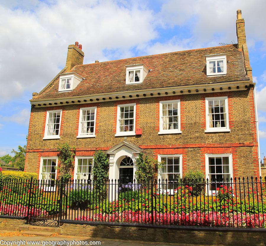 Georgian style house on Palace Green, Ely, Cambridgeshire, England, UK