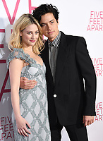07 March 2019 - Westwood, California - Lili Reinhart, Cole Sprouse. &quot;Five Feet Apart&quot; Los Angeles Premiere held at the Fox Bruin Theatre. <br /> CAP/ADM/BT<br /> &copy;BT/ADM/Capital Pictures
