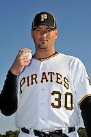Feb 28, 2010; Bradenton, FL, USA; Pittsburgh Pirates  pitcher Tyler Yates (30) during  photoday at Pirate City. Mandatory Credit: Tomasso De Rosa/ Four Seam Images