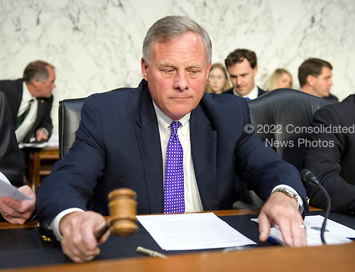 United States Senator Richard Burr (Republican of North Carolina), Chairman, US Senate Select Committee on Intelligence calls the meeting to order as his committee conducts an open hearing titled &quot;Worldwide Threats&quot; on Capitol Hill in Washington, DC on Thursday, May 11, 2017.  <br /> Credit: Ron Sachs / CNP<br /> (RESTRICTION: NO New York or New Jersey Newspapers or newspapers within a 75 mile radius of New York City)