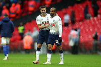 Harry Winks and Lucas of Tottenham Hotspur after Tottenham Hotspur vs Cardiff City, Premier League Football at Wembley Stadium on 6th October 2018