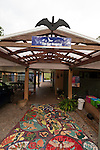 Mosaic floor of Tolga Bat Hospital front entrance