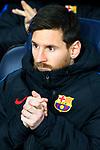 UEFA Champions League 2017/2018 - Matchday 6.<br /> FC Barcelona vs Sporting Clube de Portugal: 2-0.<br /> Lionel Messi.