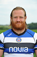 Ross Batty poses for a portrait at the squad photocall. Bath Rugby Media Day on August 27, 2013 at Farleigh House in Bath, England. Photo by: Patrick Khachfe/Onside Images