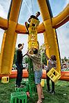 Nederland, Utrecht, 10-08-2015 - Voor ongeveer 3800 eerste jaars studenten is vandaag de Utrechtse Introductie  Tijd ( UIT ) begonnen. Studenten worden wegwijs gemaakt in de stad met culturele en sociale activiteiten. FOTO: Gerard Til /  Hollandse Hoogte