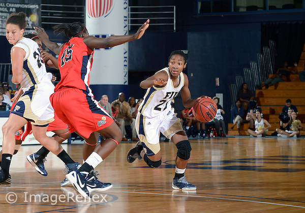 Florida International University guard Jerica Coley (22) plays against  the University of South Alabama. FIU won the game 63-49 on December 01, 2012 at Miami, Florida. .