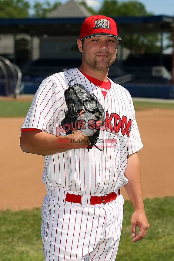 June 30th, 2007:  Josh Fritsche of the Batavia Muckdogs, Short-Season Class-A affiliate of the St. Louis Cardinals at Dwyer Stadium in Batavia, NY.  Photo by:  Mike Janes/Four Seam Images
