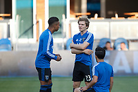San Jose, CA - Saturday July 28, 2018: Florian Jungwirth during a Major League Soccer (MLS) match between the San Jose Earthquakes and Real Salt Lake at Avaya Stadium.