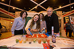 Skills Active Cymru<br /> Students Nia Jones &amp; Megan Goldberger from Porthcawl Comprehensive with Emily Morgan &amp; Craig Bennett from<br /> Cambrian Training. <br /> Cardiff International Arena<br /> 23.10.14<br /> &copy;Steve Pope-FOTOWALES