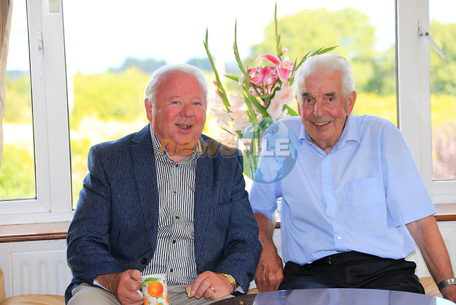 Mal Caffrey And Nicholas McAleer<br /> at Maggies coffee morning in Almondstown.<br /> Picture www.newsfile.ie