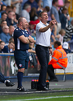 Bolton Wanderers manager Phil Parkinson shouts instructions to his team from the technical area<br /> <br /> Photographer Ashley Western/CameraSport<br /> <br /> The EFL Sky Bet Championship - Millwall v Bolton Wanderers - Saturday August 12th 2017 - The Den - London<br /> <br /> World Copyright &not;&copy; 2017 CameraSport. All rights reserved. 43 Linden Ave. Countesthorpe. Leicester. England. LE8 5PG - Tel: +44 (0) 116 277 4147 - admin@camerasport.com - www.camerasport.com