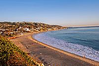 A gorgeous January day nearing sunset at the Main Beach Park, Laguna Beach, California.