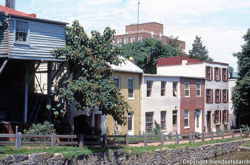 D.C.: Georgetown--Canal St. Houses c. 1840-60. Slave quarters, temements for workers.