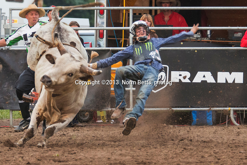 RAM Rodeo action, Harrow, Ontario, Canada, June, 2013<br /> Photo by Norm Betts <br /> tel:416 460 8743<br /> &copy;2013 Norm Betts, photog