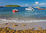 Vieques Island, Puerto Rico<br /> Colorful boats moored in the Esperanza harbor