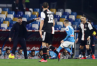 26th January 2020; Stadio San Paolo, Naples, Campania, Italy; Serie A Football, Napoli versus Juventus; Gennaro Gattuso coach of Napoli gives directions to his players for the pass