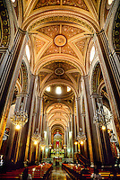 Neoclassical interior of the Cathedral, Morelia,  Michoacan, Mexico