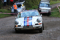 Derek Boyd / Alan Cathers at Junction 6, on Special Stage 1 Craigvinean in the Colin McRae Forest Stages Rally 2012, Round 8 of the RAC MSA Scotish Rally Championship which was organised by Coltness Car Club and based in Aberfeldy on 5.10.12.