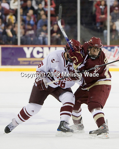 Brett Watson (UMass - 26), Brian Gibbons (BC - 17) - The Boston College Eagles defeated the University of Massachusetts-Amherst Minutement 3-1 on Friday, December 4, 2009, at the Mullins Center in Amherst, Massachusetts.