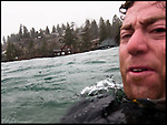 Surfing on Lake Tahoe