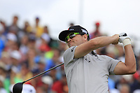 Zach Johnson (USA) tees off the 1st tee to start his match during Sunday's Final Round of the 117th U.S. Open Championship 2017 held at Erin Hills, Erin, Wisconsin, USA. 18th June 2017.<br /> Picture: Eoin Clarke | Golffile<br /> <br /> <br /> All photos usage must carry mandatory copyright credit (&copy; Golffile | Eoin Clarke)