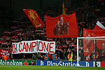 Liverpool fans on the Spion Kop during the Champions League Group E match at the Anfield Stadium, Liverpool. Picture date 13th September 2017. Picture credit should read: Simon Bellis/Sportimage