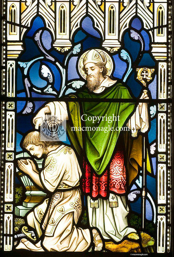 St. Brendan depicted in a stained glass window in St. Mary's Cathedral, Killarney..Photo: Don MacMonagle