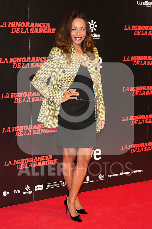 "Montse Pla attends ""La Ignorancia de la Sangre"" Premiere at Capitol Cinema in Madrid, Spain. November 13, 2014. (ALTERPHOTOS/Carlos Dafonte)"