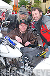 2138-2142.Liam Coffey, Navan, Dan Casey, Killarney, and Brian McGuire, Navan, admiring the Harley Davidsons in Killarney on Saturday...