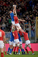 Touche Sergio Parisse Italy.<br />  <br /> Roma 9-02-2019 Stadio Olimpico<br /> Rugby Six Nations tournament 2019  <br /> Italy - Wales <br /> Foto Antonietta Baldassarre / Insidefoto