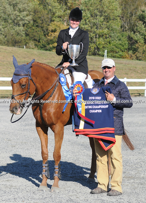 17 October 2010: Hannah Burnett and St. Barths rode a double-clear jumping round to a win in the 3-Star Division at the Fair Hill International in Fair Hill, Maryland