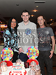 Darren Arnold celebrating his 21st birthday in Daly's of Donore with godparents Betty Arnold and Gerard Myles. Photo:Colin Bell/pressphotos.ie