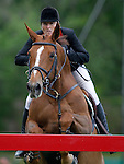 Ireland's jockey Marion Hughes with the horse HHS Fortuna during 102 International Show Jumping Horse Riding, Gran Prix of Madrid-Volvo Throphy.May, 19, 2012. (ALTERPHOTOS/Acero)