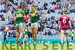 David Shaw Kerry celebrates scoring his sides second goal against  Galway in the All Ireland Minor Football Final in Croke Park on Sunday.