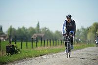 Jasper Stuyven (BEL/Trek Factory Racing)<br /> <br /> 2014 Paris-Roubaix reconnaissance