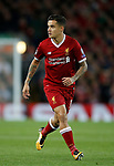 Philippe Coutinho of Liverpool during the Champions League Group E match at the Anfield Stadium, Liverpool. Picture date 13th September 2017. Picture credit should read: Simon Bellis/Sportimage