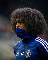 Tahith Chong of Man Utd pre match during the Premier League match between Newcastle United and Manchester United at St. James's Park, Newcastle, England on 6 October 2019. Photo by J GILL / PRiME Media Images.